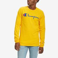 Champion Men's Life Heritage Long-Sleeve Tee, Vintage Logo