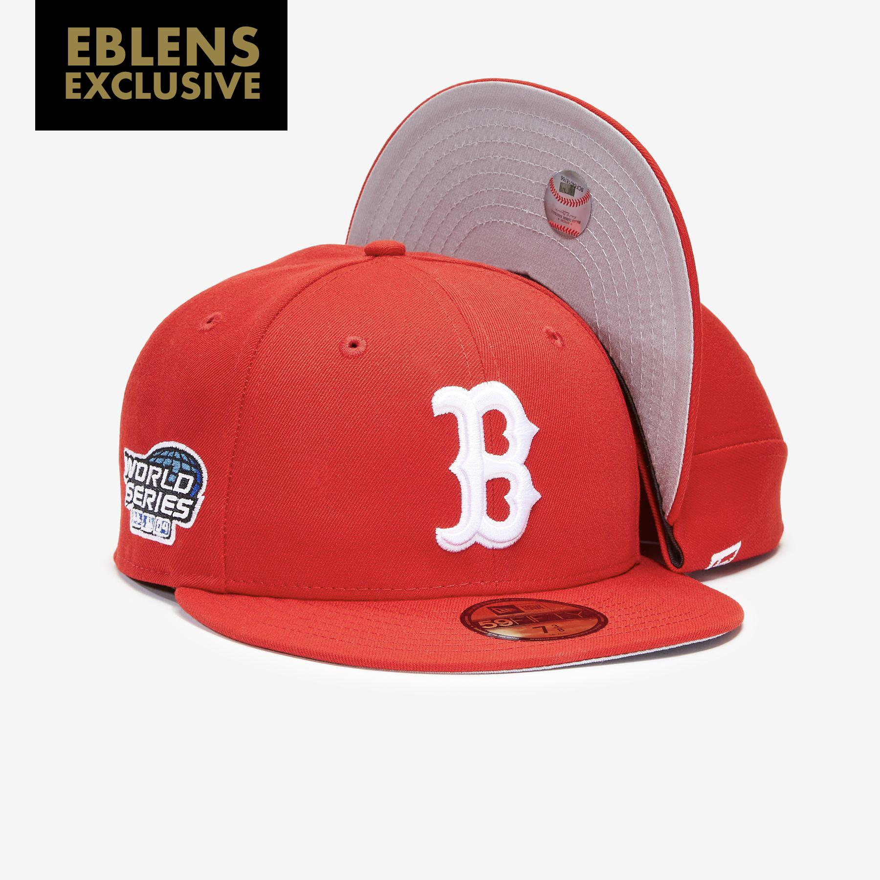 Boston Red Sox Basic 59fifty Gray Under Brim With Side Patch Fitted Cap