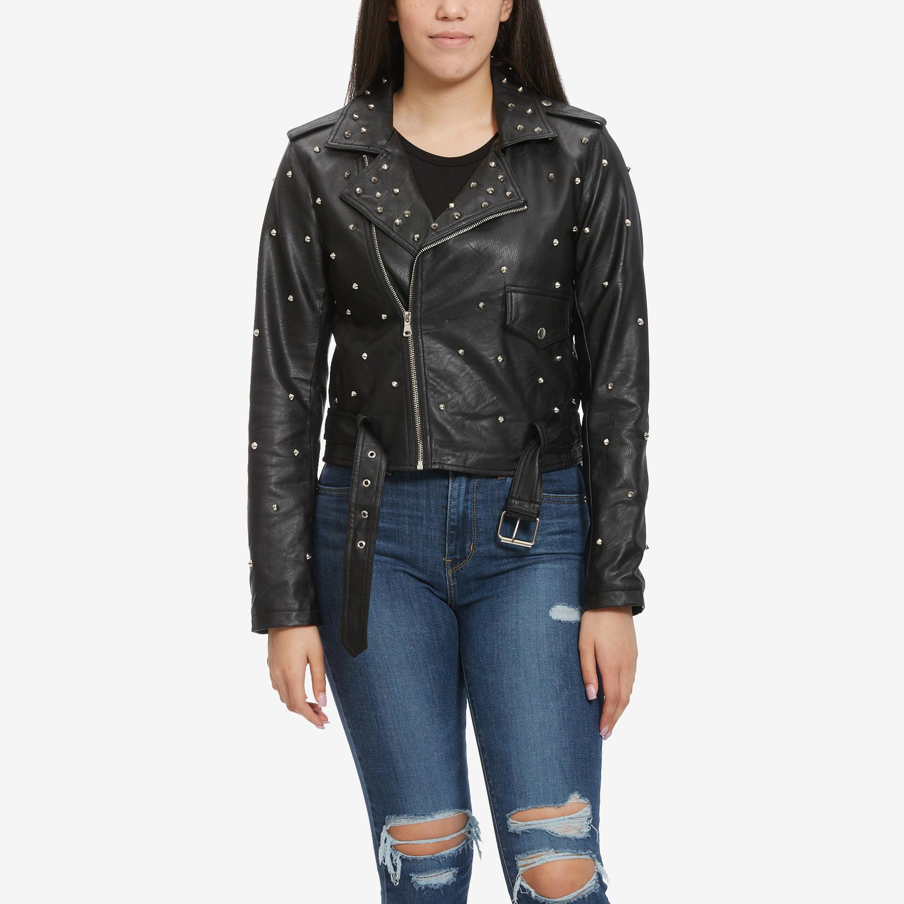 Women's Studded Moto Jacket