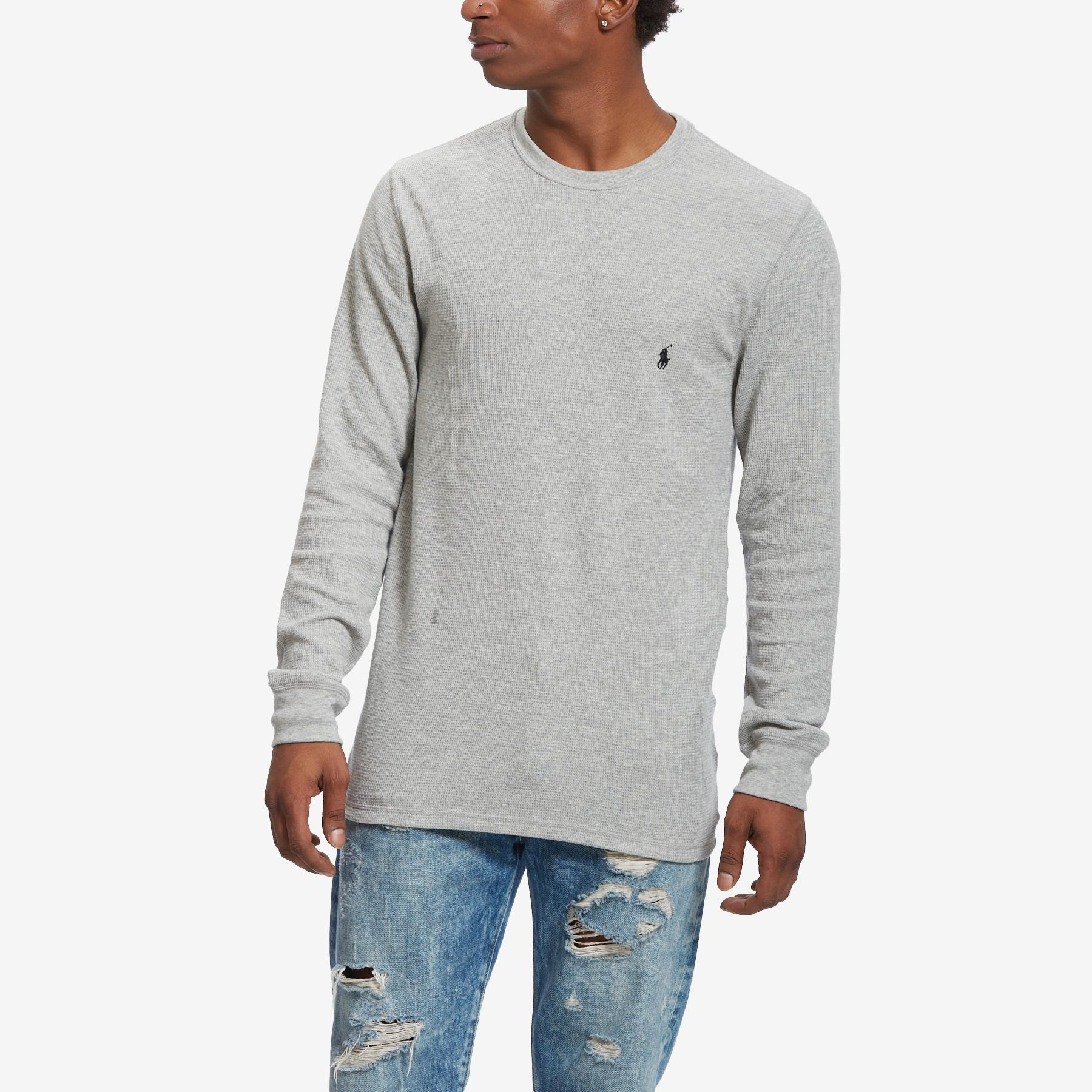 Men's Waffle- Knit Crew Neck Thermal