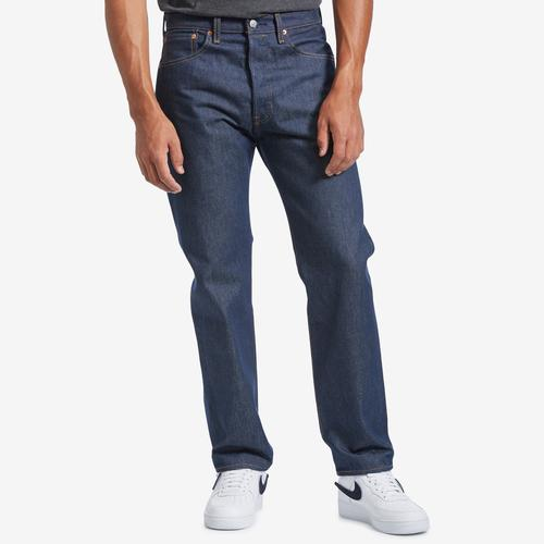 Front View of Levis Men's Original 501 Shrink-To-Fit Jeans