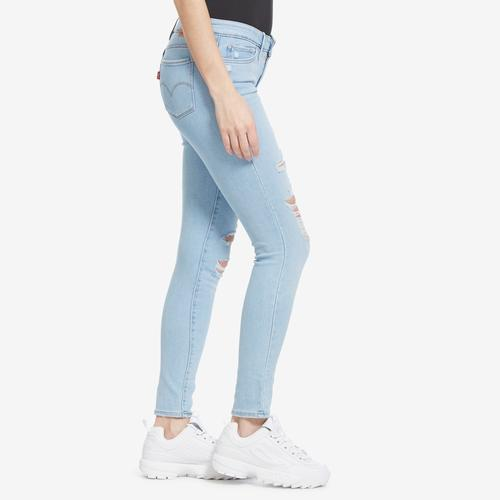 Left Side View of Levis Women's 711 Skinny Jeans