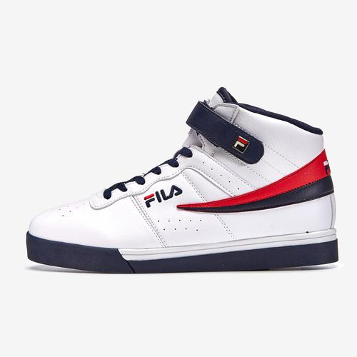 Left Side View of FILA Men's Vulc 13 Mid-Top Sneakers