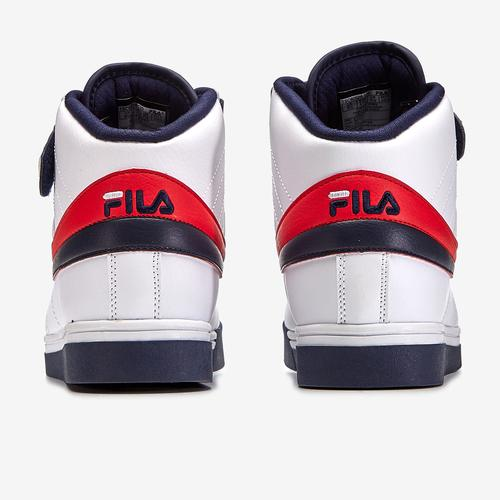 Back View of FILA Men's Vulc 13 Mid-Top Sneakers