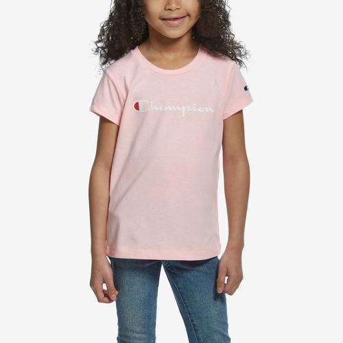 Front View of Champion Girl's Short Sleeve Fashion Tee