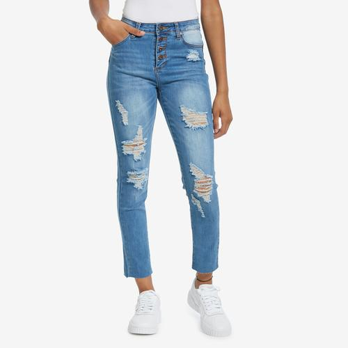 First view of Women's Destructed Skinny Jean by GOGO JEANS