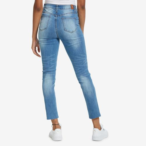Second view of Women's Destructed Skinny Jean by GOGO JEANS