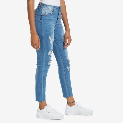 Fourth view of Women's Destructed Skinny Jean by GOGO JEANS