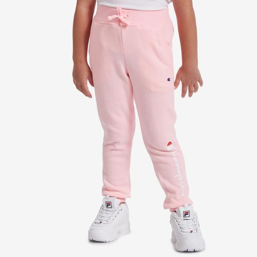 Front View of Champion Girl's Preschool Joggers, Vertical Logo