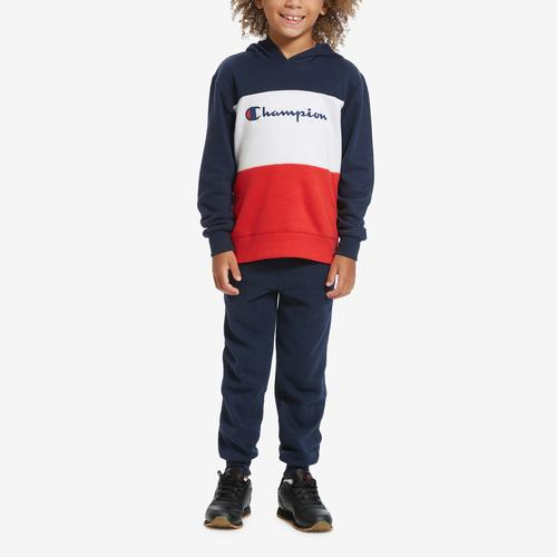 First view of Boy's Toddler Script Hoodie Set by Champion