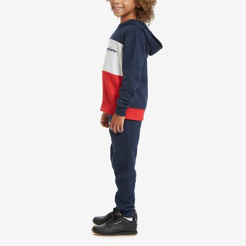Third view of Boy's Toddler Script Hoodie Set by Champion