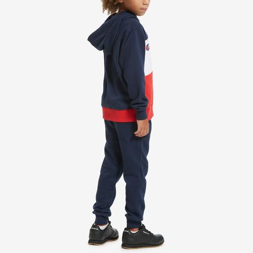 Fourth view of Boy's Toddler Script Hoodie Set by Champion
