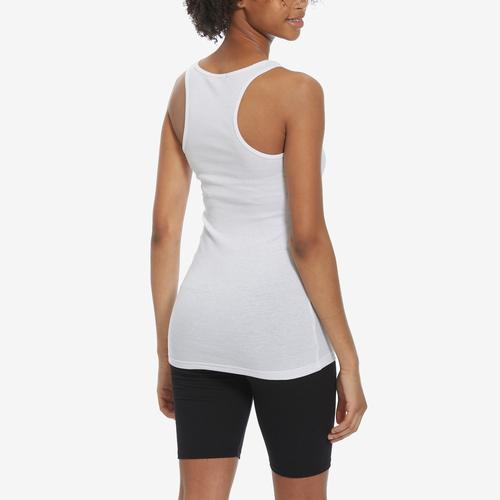 Ambiance Woman's Scoop Neck 2X1 Racerback Rib Solid Tank Top