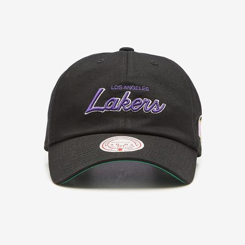 Mitchell + Ness Foundation Script Dad Hat Strapback HWC Los Angeles Lakers