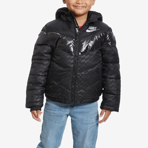 First view of Boy's Preschool Color-Block Puffer Jacket by Nike
