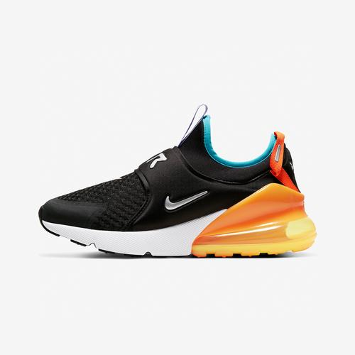 Left Side View of Nike Girl's Grade School Air Max 270 Extreme Sneakers