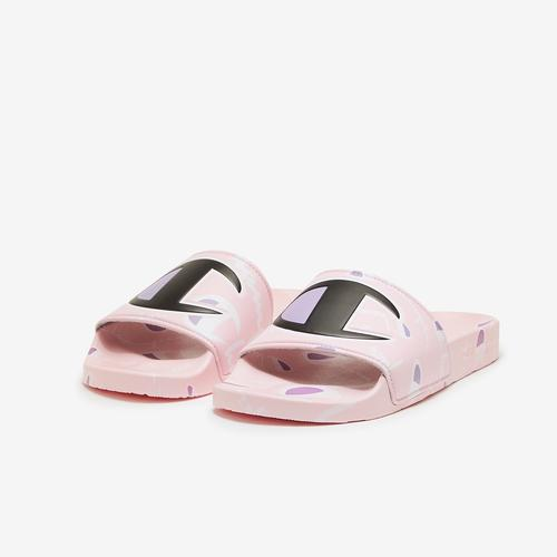 Champion Girl's Grade School Super Slides, Warped Logos
