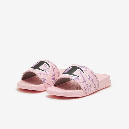 Champion Girl's Preschool Super Slides, Warped Logos