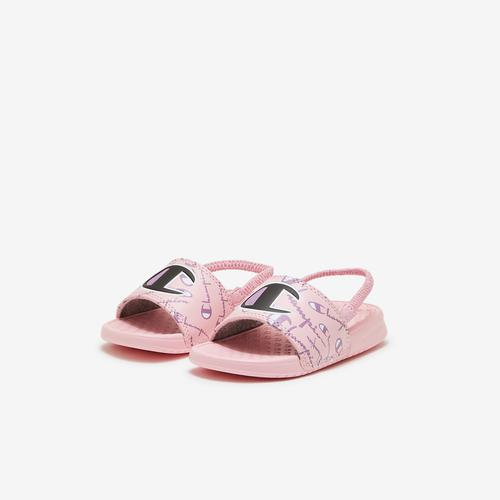 Champion Girl's Toddler Super Slides, Warped Logos