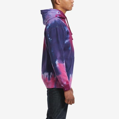 Fourth view of Men's Playboy Tie Dye Tokyo Rabbit Hoodie by COLOR BARS