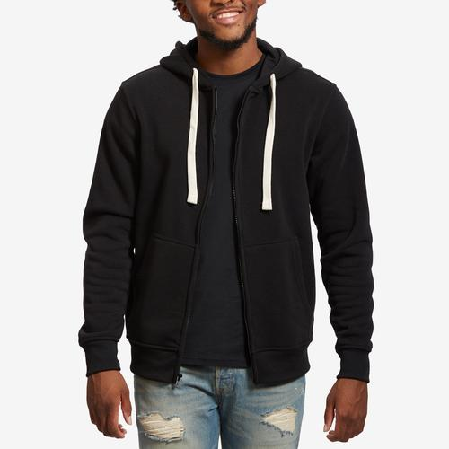 Front View of EBL by PJ Mark Men's Full Zip Fleece Hoodie