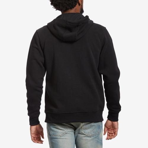 Back View of EBL by PJ Mark Men's Full Zip Fleece Hoodie
