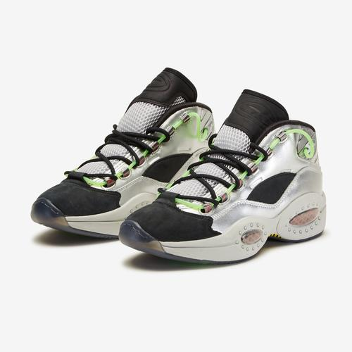 Second view of Men's Minion Question Mid Basketball Shoes by Reebok