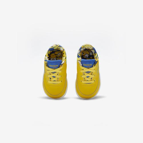 Fifth view of Girl's Toddler Reebok x Minion Club C 85 Shoes by Reebok