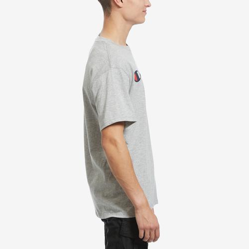 Right Side View of Champion Men's Graphic Jersey Tee, Script Logo
