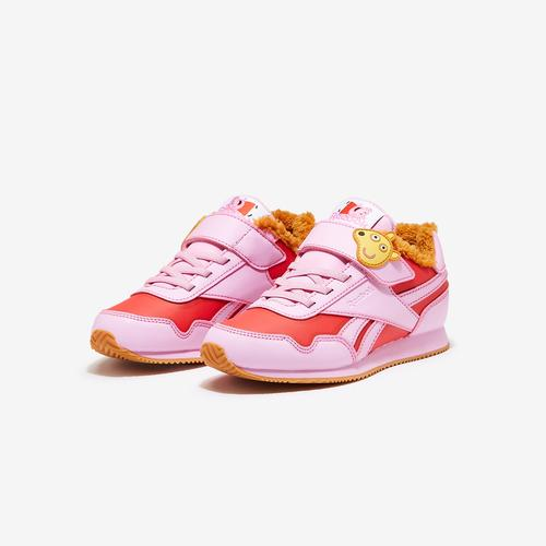 Reebok Girl's Preschool Classic Leather Peppa Pig Shoe