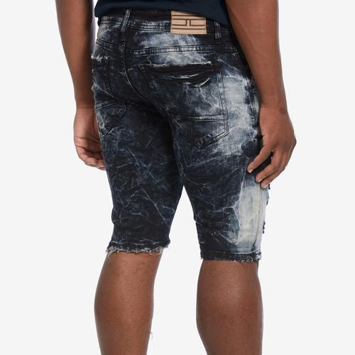 Second view of Men's Distressed Denim Shorts by Jordan Craig