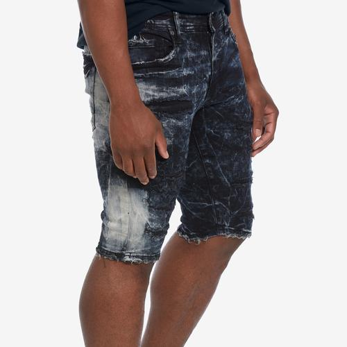 Fourth view of Men's Distressed Denim Shorts by Jordan Craig
