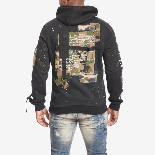 Smoke Rise Men's Fashion Utility Patch Hoody