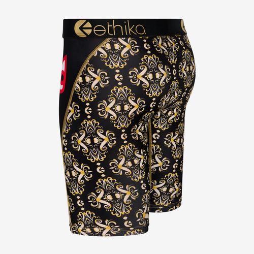 Back View of ETHIKA Men's Bomber Gatsby Boxer Brief