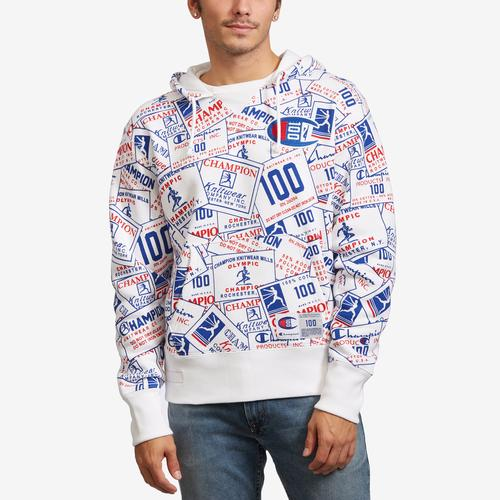 Front View of Champion Men's Century Collection Pullover Hoodie