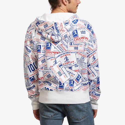 Back View of Champion Men's Century Collection Pullover Hoodie