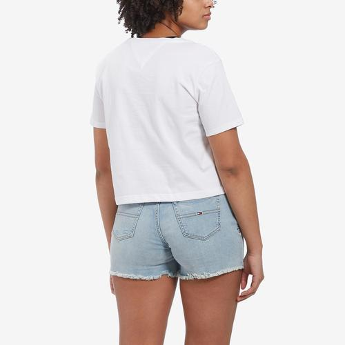 Tommy Jeans Women's Cropped Flag Logo Tee