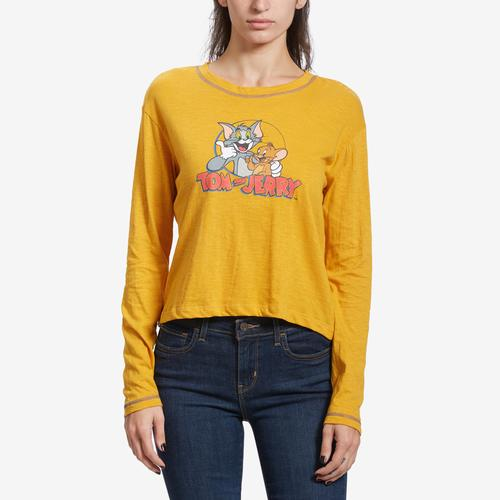 Front View of Freeze Women's Tom & Jerry Long Sleeve Skimmer T-Shirt