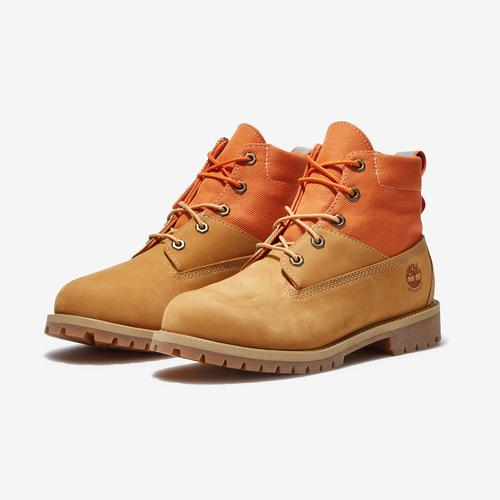 Timberland Boy's Gradeschool 6-Inch Premium Mixed-Media Waterproof Boots