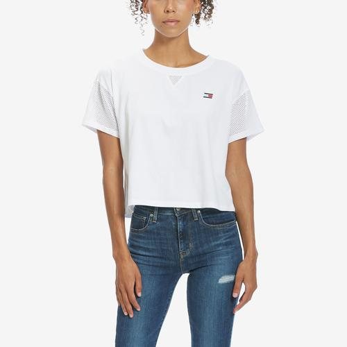 First view of Women's Logo Mesh Tee by Tommy Hilfiger