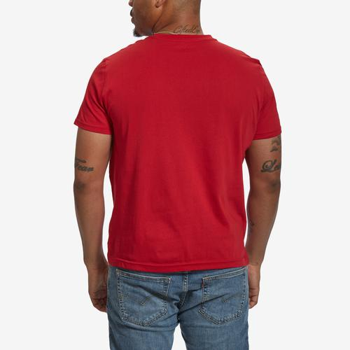 Back View of Nautica Men's Solid Crew Neck Short Sleeve T-Shirt