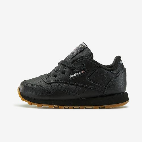 Left Side View of Reebok Boy's Toddler Classic Leather Sneakers
