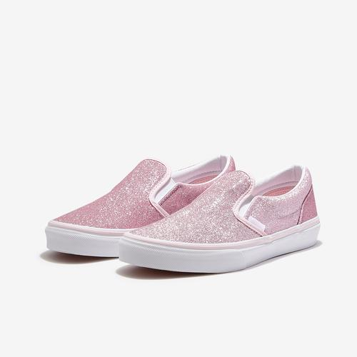 Vans Girl's Grade School Classic Glitter Slip On