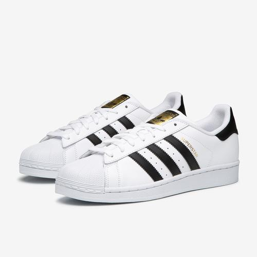 Side Angle View of adidas Men's Superstar Foundation Sneakers