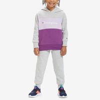 Champion Girl's Toddler Script Logo Hoodie Set..