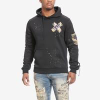Smoke Rise Men's Fashion Utility Patch Hoody..