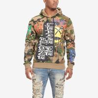 Smoke Rise Men's Leave Me Along Graffiti Hoodie..